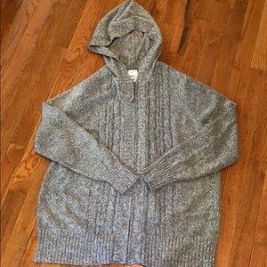 Soft zipper hoodie